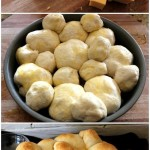 Grilled Cheese Pull-Apart Rolls with tomato soup!