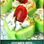 Cucumber Bites with Herb Cream Cheese and Cherry Tomatoes