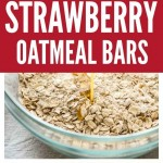 Healthy Strawberry Oatmeal Bars