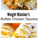 BAKED BUFFFALO CHICKEN TAQUITOS