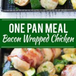 BACON WRAPPED STUFFED CHICKEN BREAST(ONE PAN MEAL)