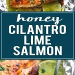 Baked Honey Cilantro Lime Salmon in Foil