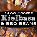 Slow Cooker Kielbasa and Barbecue Beans