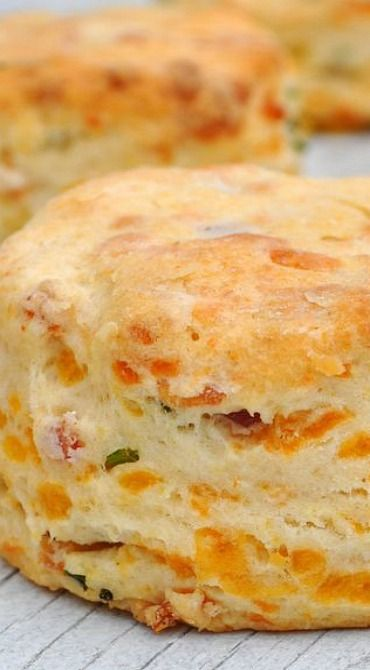 Cheddar Chive and Bacon Biscuits | YourCookNow