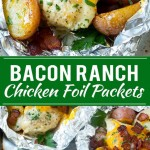 BACON RANCH CHICKEN FOIL PACKETS