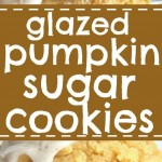 GLAZED PUMPKIN SUGAR COOKIES