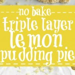 (no bake) Triple Layer Lemon Pudding Pie