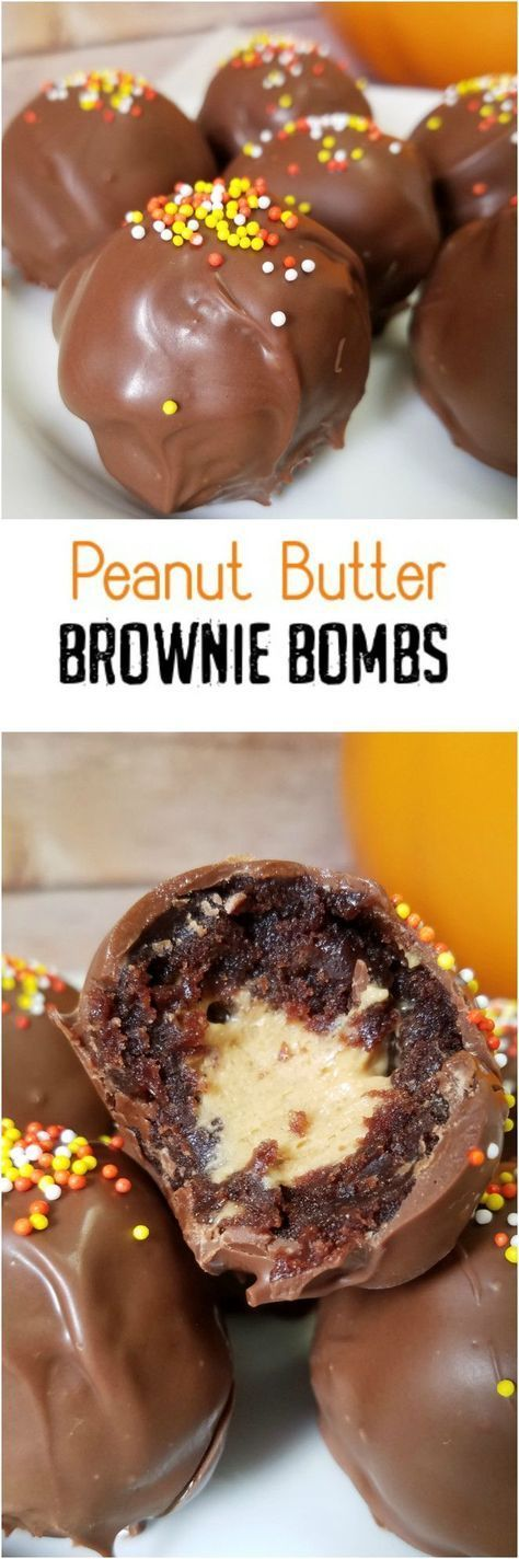 Peanut-Butter-Brownie-Bombs