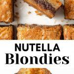 Nutella-Blondies