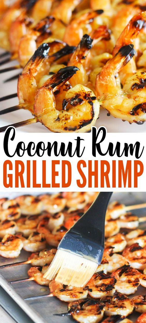Coconut-Rum-Grilled-Shrimp-Recipe – only 5-ingredients!