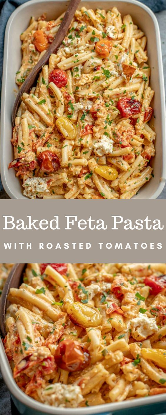 Baked-Feta-Pasta-with-Roasted-Tomatoes