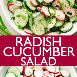 Radish and Cucumber Salad with Garlic-Yogurt Dressing
