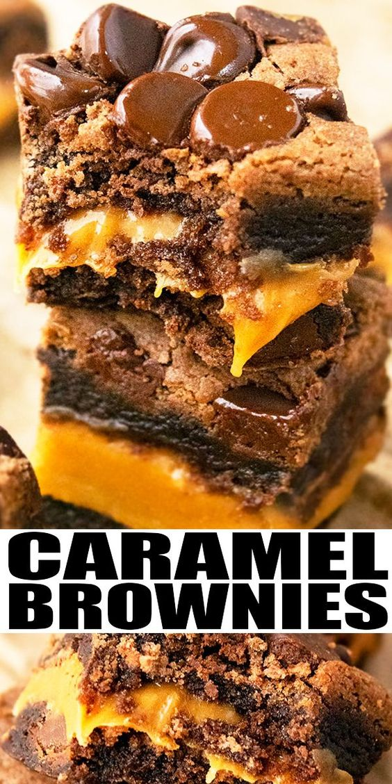 Caramel-Brownies-(With-Brownie-Mix)