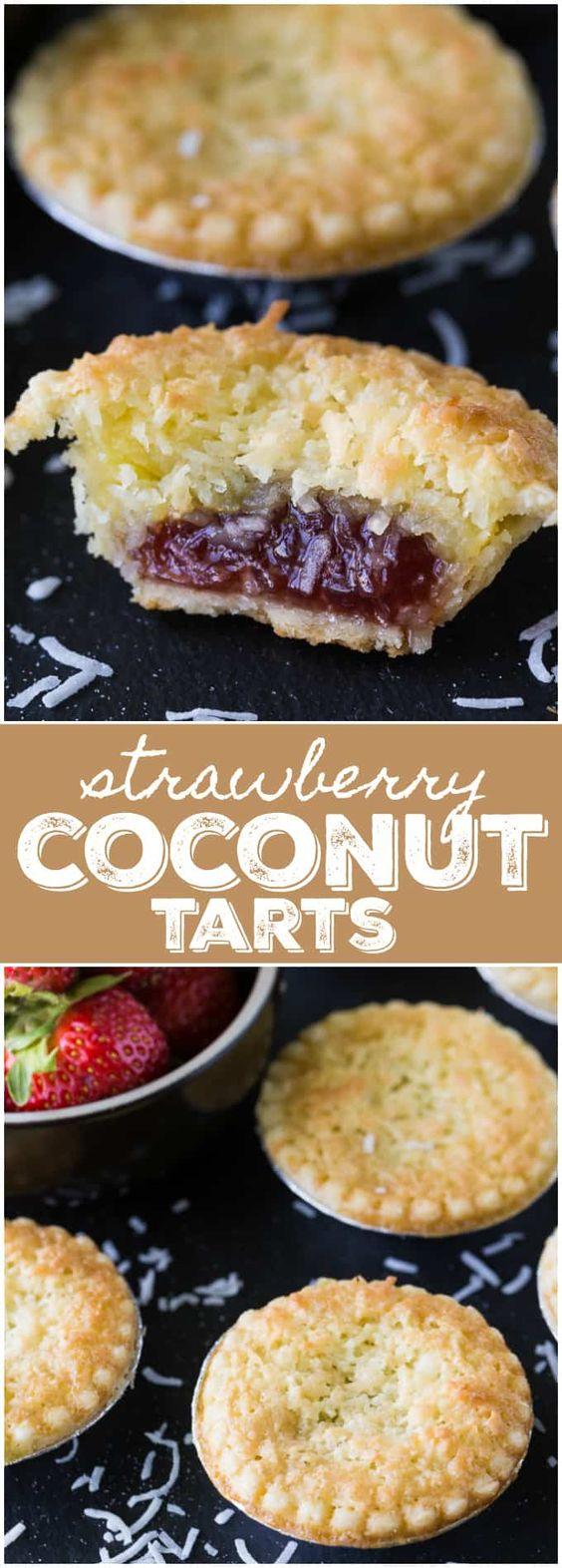 Strawberry-Coconut-Tarts