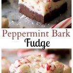 Peppermint Bark Fudge