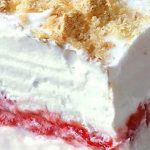 No Bake Strawberry Cheesecake Lasagna