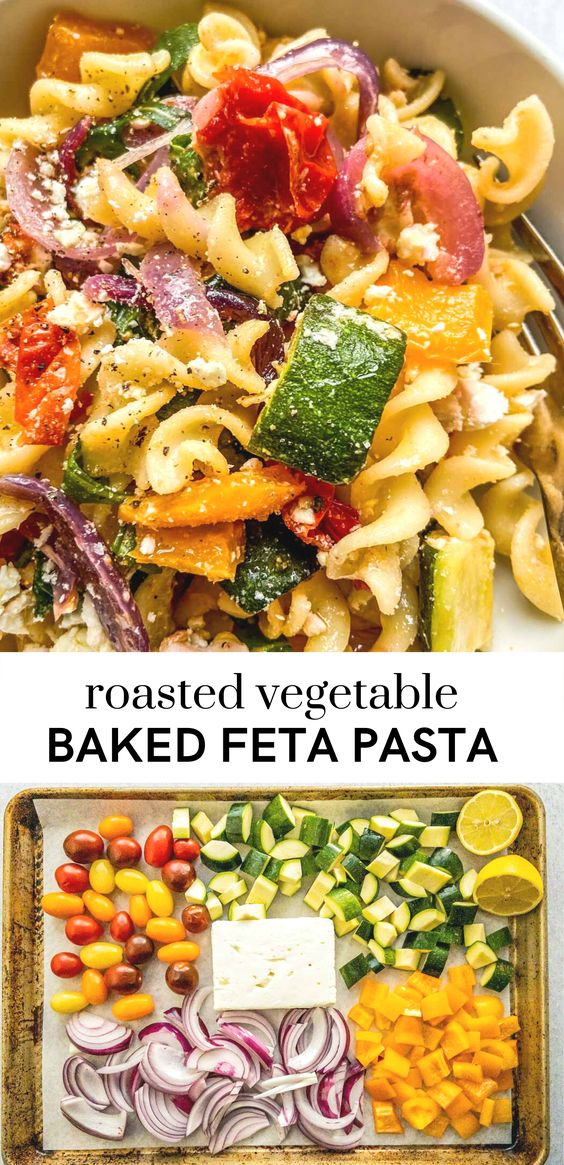 Roasted-Veggie-Pasta-with-Feta