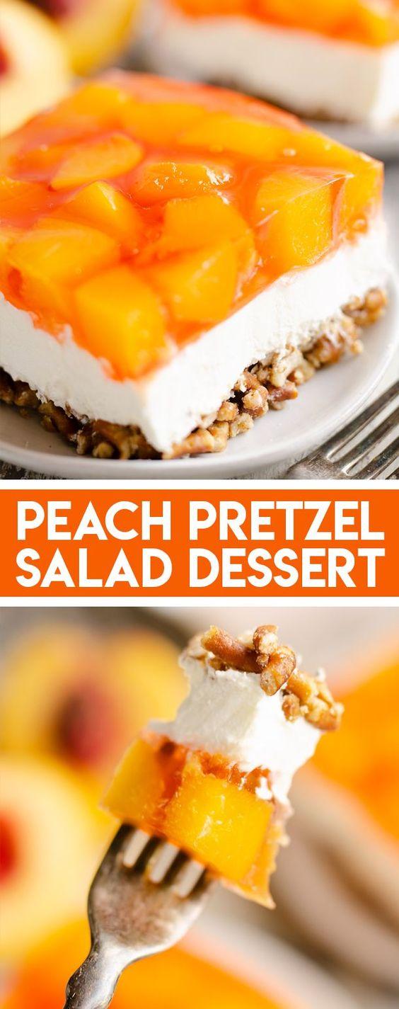 Peach-Pretzel-Salad-Dessert