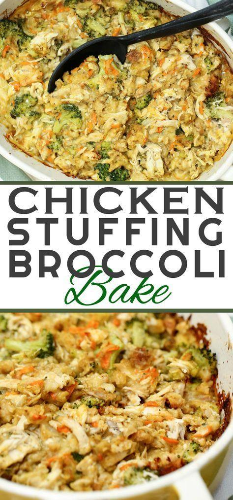 Chicken-Stuffing-Bake