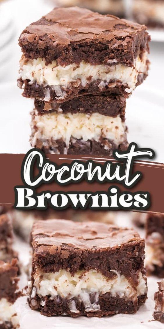 Coconut-Brownies