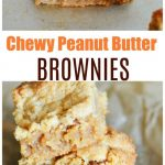Chewy Peanut Butter Brownies Recipe
