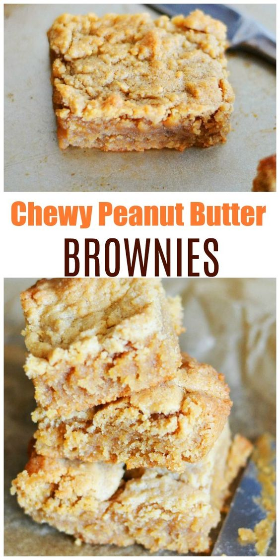 Chewy-Peanut-Butter-Brownies-Recipe