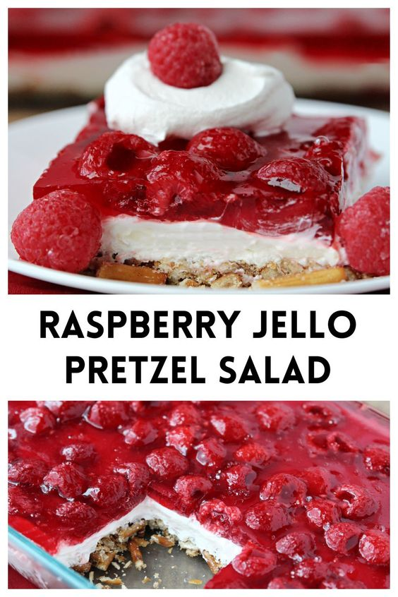 Raspberry-Jello-Pretzel-Salad