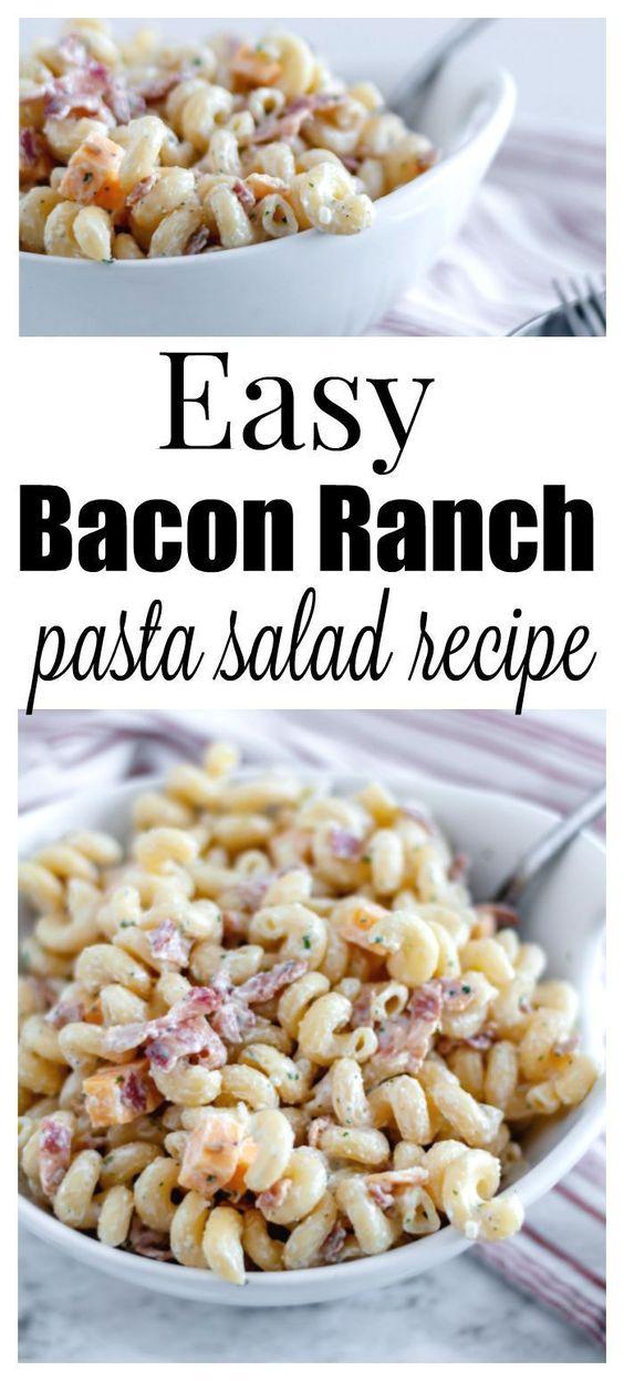 Easy-Bacon-Ranch-Pasta-Salad