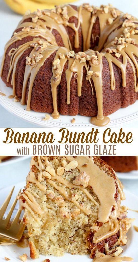 Banana-Bundt-Cake-with-Brown-Sugar-Glaze